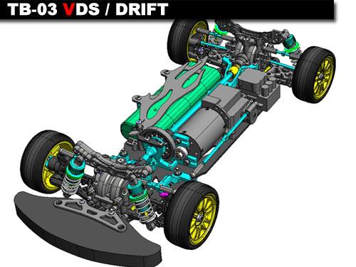 84205 TB03 VDS Chassis Kit Tamiya_tb03vds