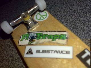 your fingerboard set-up Frozen350