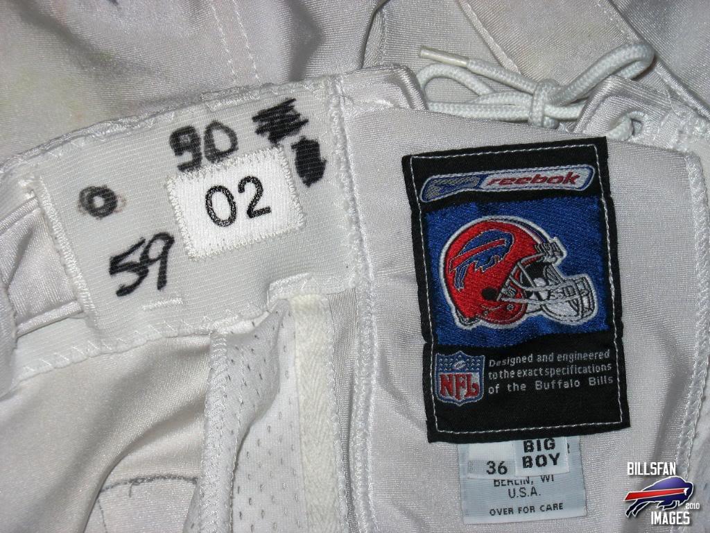 London Fletcher game worn pants. Picture031-3