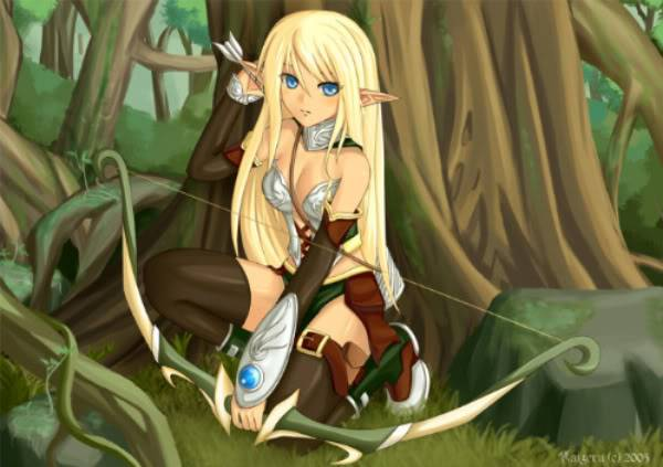 Lol i kinda got bored and a little vain :p _Forest_of_Elves__by_Kaizeru-1-1-1