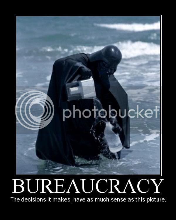 Demotivational Posters. Bureaucracy