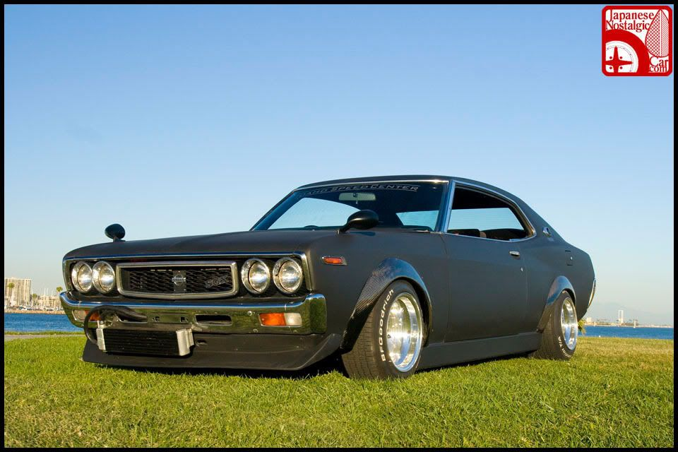 Slammed cars from across the tinternet thread NissanLaurel1976002