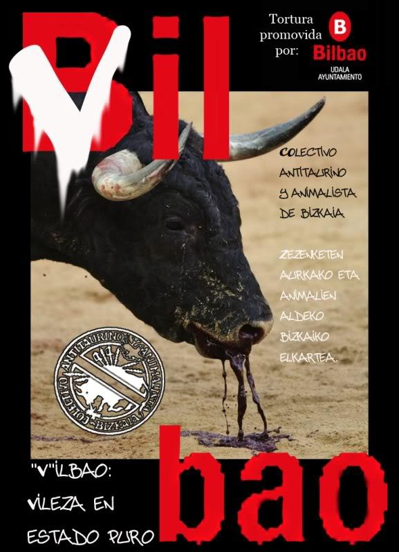 Manifestaciones Antitaurinas en Bilbao, 16, 21 y 22 de agost VIL-1