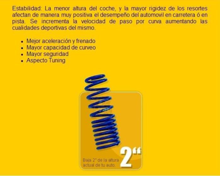 Resortes AG Kit Para bajar tu Peugeot o Cualquir otro Carro. Resortes3