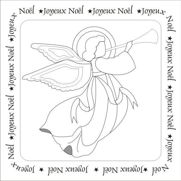 20 octobre - Cartes de Noël en paper piecing Croquis_ange