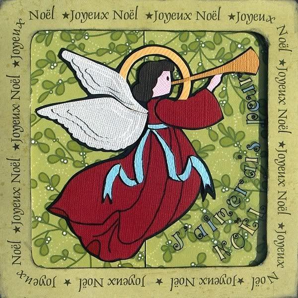 20 octobre - Cartes de Noël en paper piecing Ange
