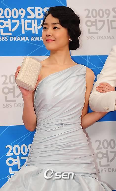 Moon Geun Young tại lễ trao giải SBS Drama Award 2009 3-12