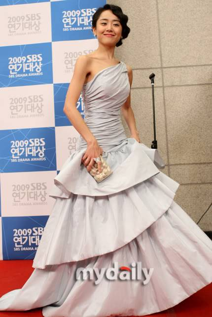 Moon Geun Young tại lễ trao giải SBS Drama Award 2009 9-5