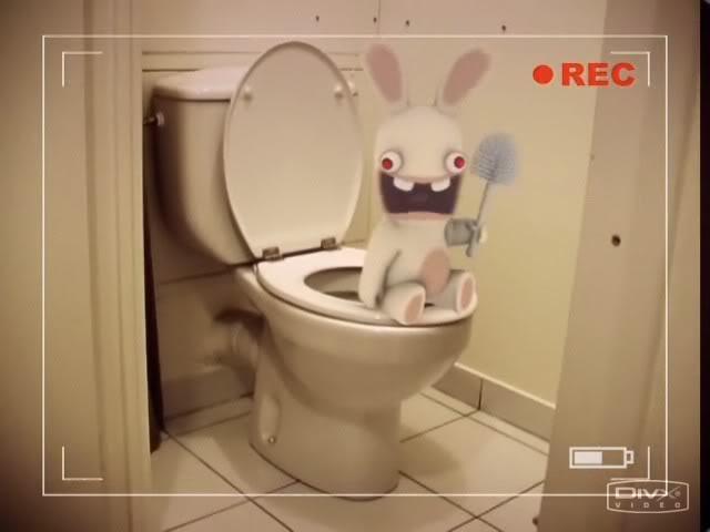 The Rabbits! - 56k warning Toilet