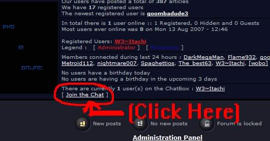 HOW TO ENTER THE CHATBOX Other