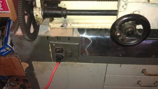 Got the lathe rewired and lit SBend3