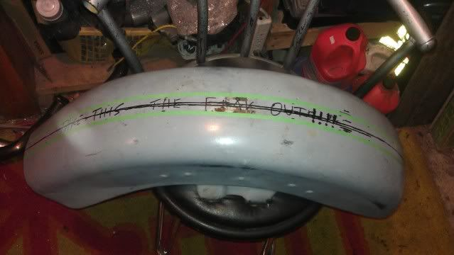 Sectioning FL fender for narrower tire Sec2