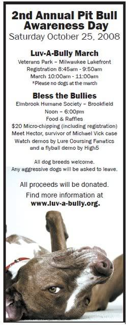 2nd Annual Pit Bull Awareness Day - WI 2ndannualpitbullawarenessadvertisem