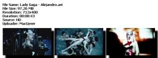 Colección de videos de Lady Gaga [FS] Alejandro