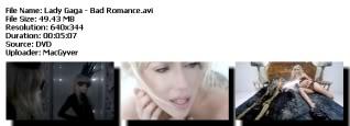Colección de videos de Lady Gaga [FS] Badromance