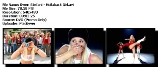Colección de Videos de Gwen Stefanni [DVDRIP] [FS] Hollaback