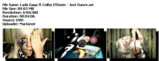 Colección de videos de Lady Gaga [FS] Justdance