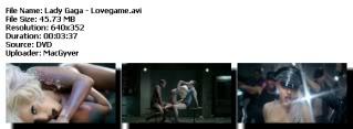 Colección de videos de Lady Gaga [FS] Lovegame
