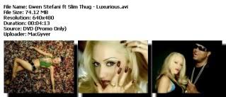 Colección de Videos de Gwen Stefanni [DVDRIP] [FS] Luxurious