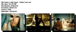 Colección de videos de Lady Gaga [FS] Pokerface