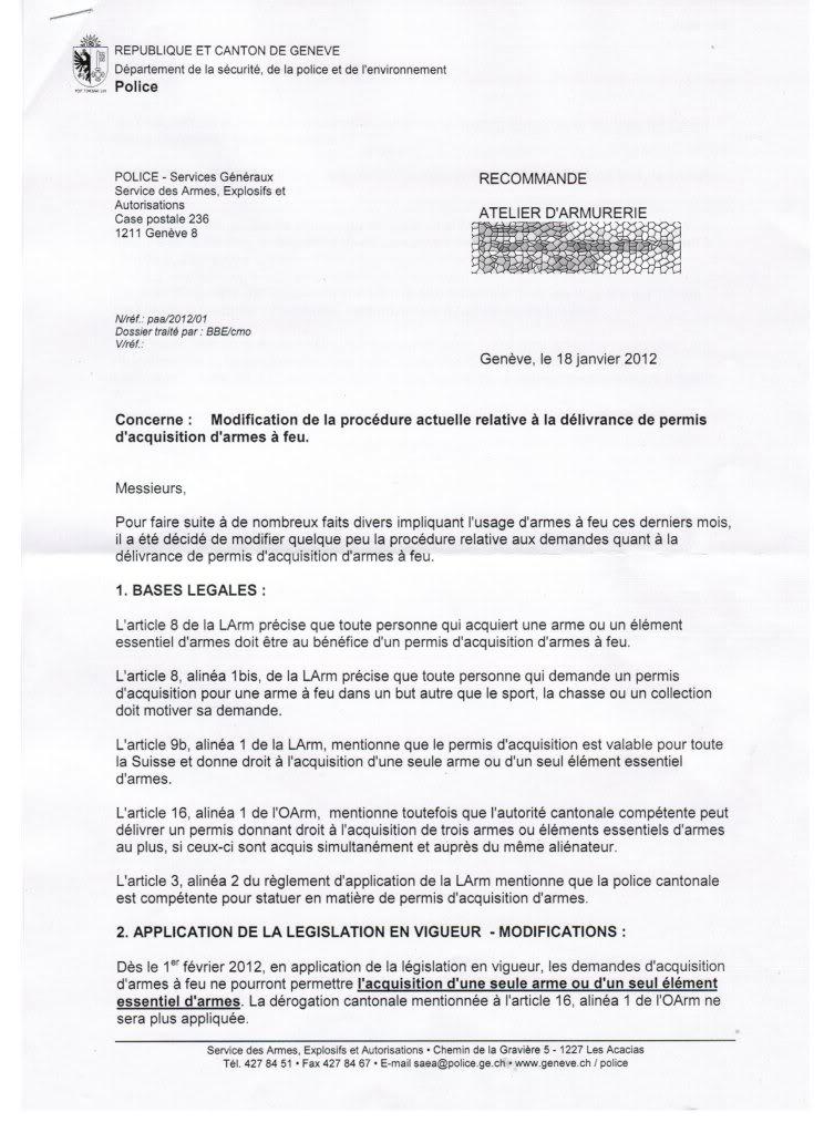Genève serre la vis ArmesGE1-1