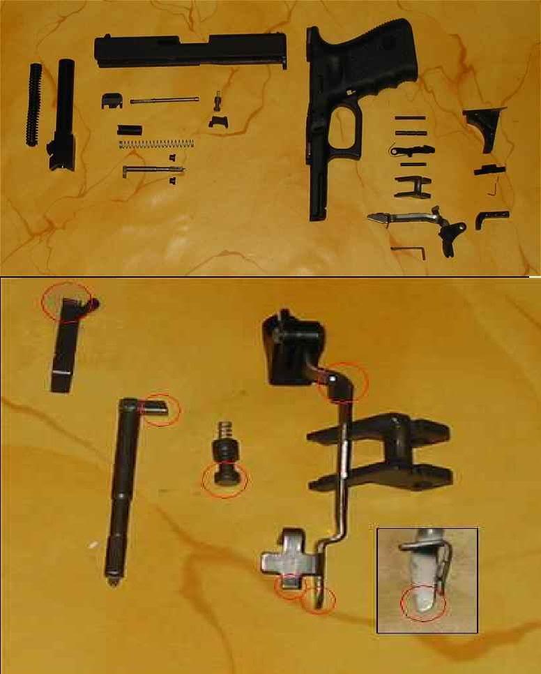 Ameliorer la détente d'un Glockware Glock-Polissage
