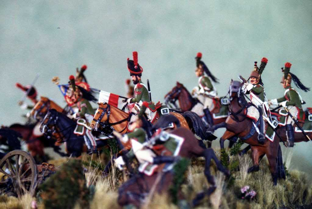 Charge des Dragons Wagram 1809 CHARGE2meDRAGONS1809-1