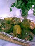 Libyan Mahshi (spicy stuffed peppers and other veggies) Image021