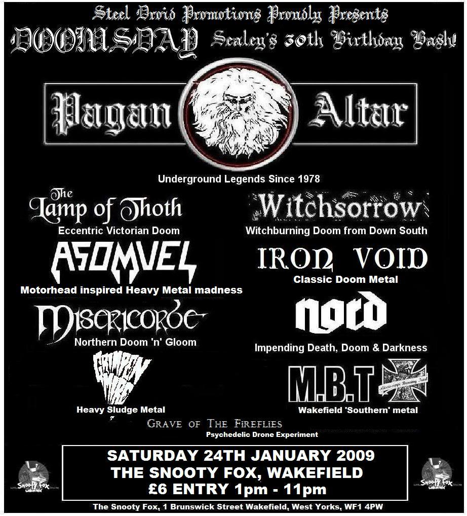 Doomsday All Dayer Jan 24th 2009 with Pagan Altar as special guests! Doomsdayfinal