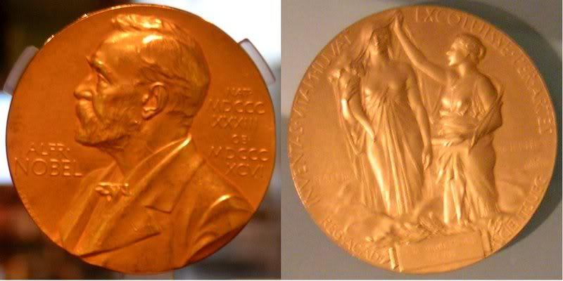 """""""ჩვენ ხელთ კი ხარ ბედნავსია..."""" Nobel_prize_medal"""