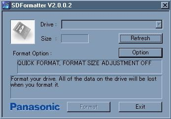 SD Memory Card Formatting Software 46957sdformatter