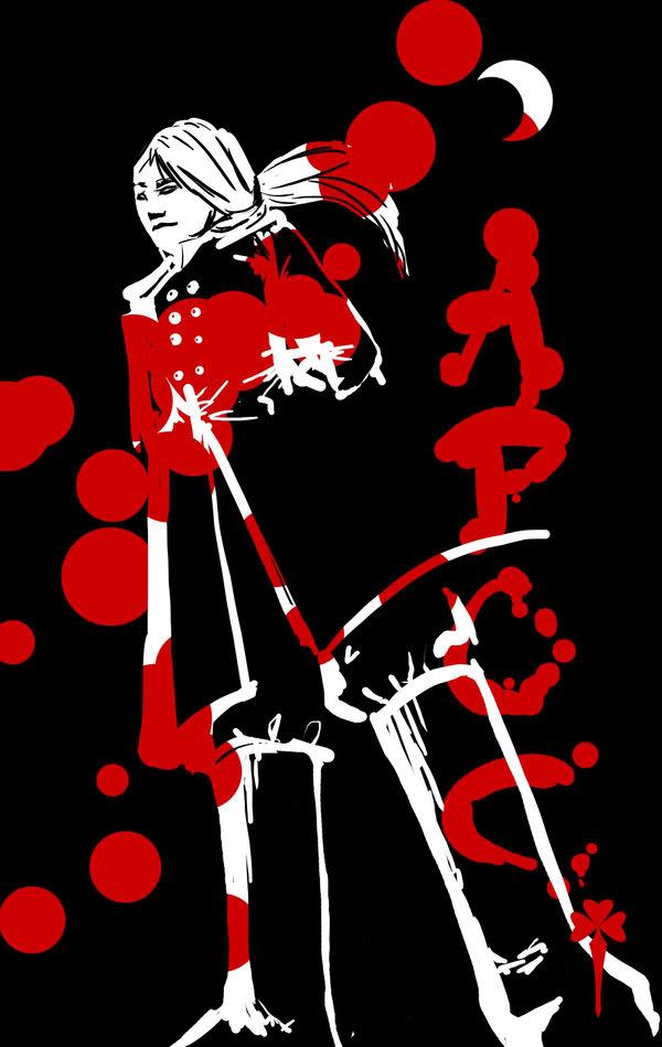Blanco en negro y rojo Apoc_by_Dame_Cruz