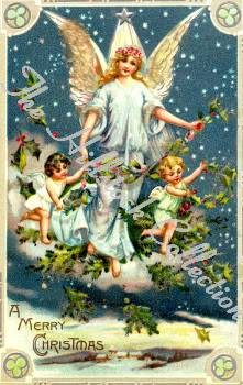 Angels for our little Angel (A collection of pictures) VintageChristmasClipArtVolI15