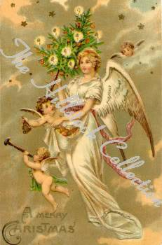 Angels for our little Angel (A collection of pictures) VintageChristmasClipArtVolI20
