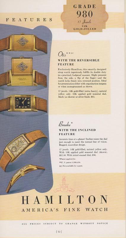 Les Hamilton Otis Reverso CatalogueHamilton1938
