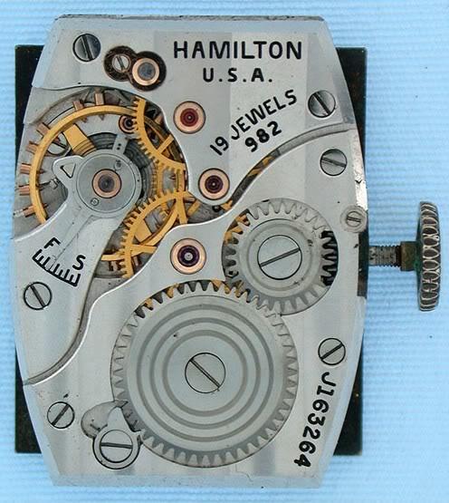 Hamilton Otis reverso + le brevet de René Alfred Chauvot Hamiltoncal982