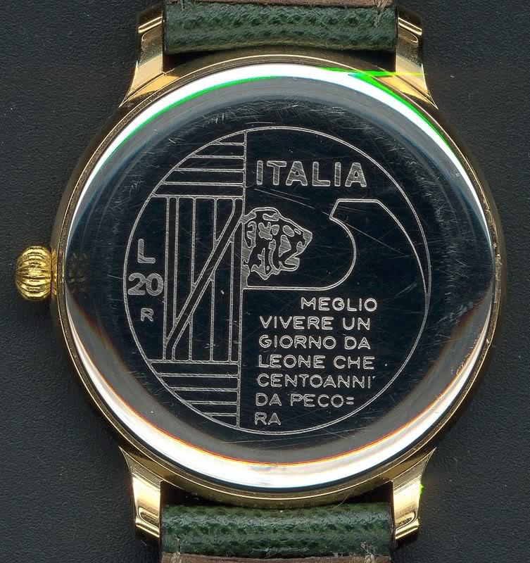 Quelle est votre montre la plus originale ? - Page 2 Mussoliniverso
