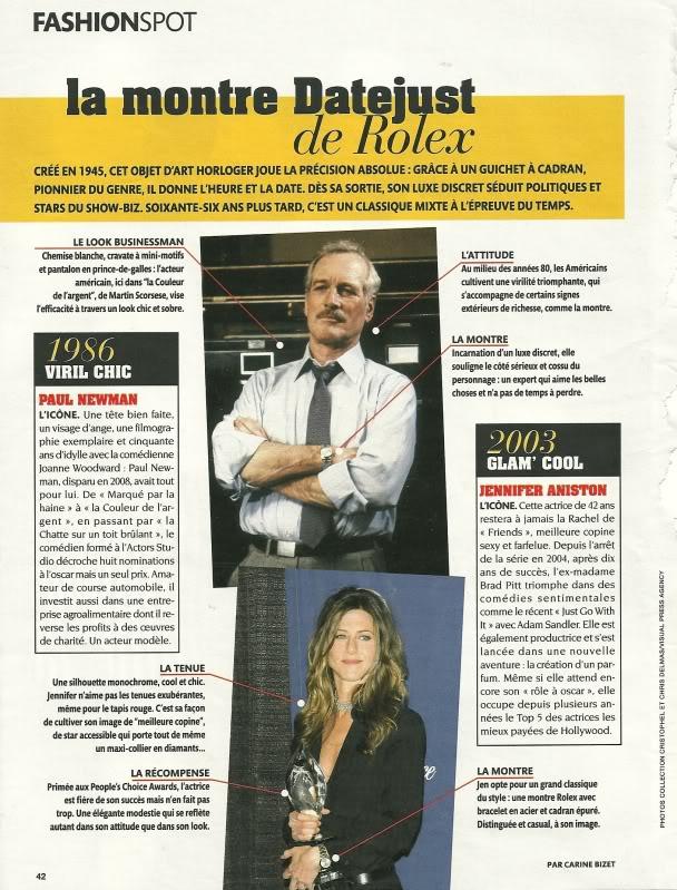 Fashionspot Le Figaro : Rolex Datejust RolexLeFigaro