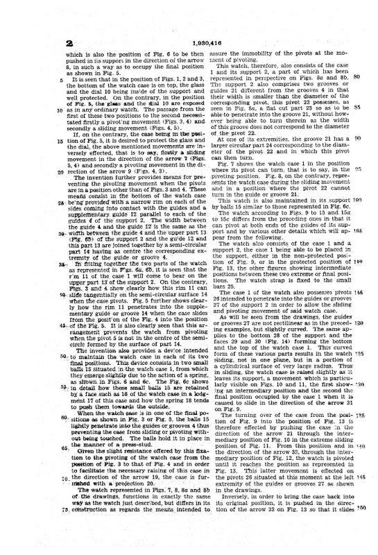 Hamilton Otis reverso + le brevet de René Alfred Chauvot USPAT1930416_5