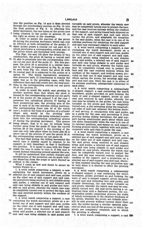 Hamilton Otis reverso + le brevet de René Alfred Chauvot USPAT1930416_6