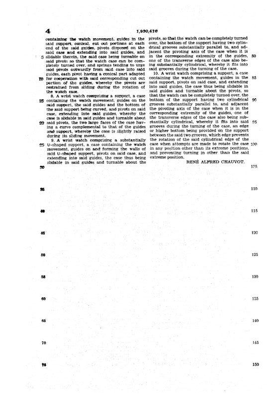 Hamilton Otis reverso + le brevet de René Alfred Chauvot USPAT1930416_7