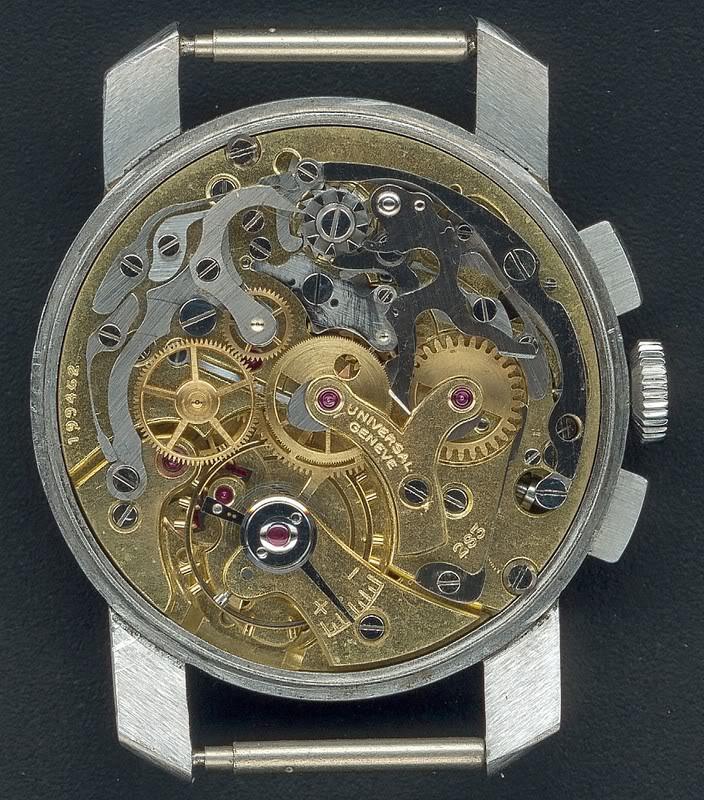 La gamme des calibres chrono Universal Genève Universal283Compaxwidelugs