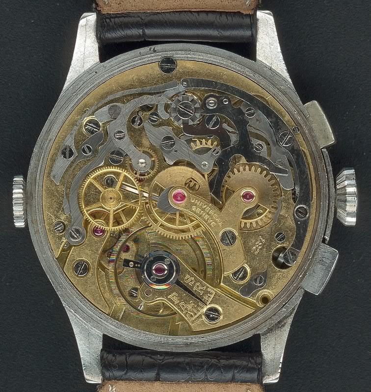 La gamme des calibres chrono Universal Genève Universal287UniversalAeroCompax