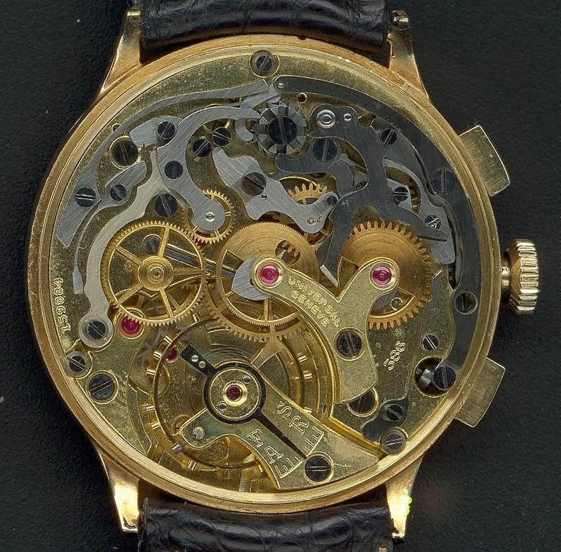 La gamme des calibres chrono Universal Genève Universal386Compur30