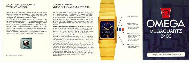 Demande de mode d'emploi pour oméga marine chronometer Out-0020