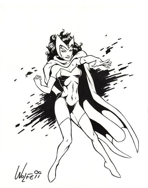 LA SORCIERE ROUGE ( Scarlet Witch ) F10527ad