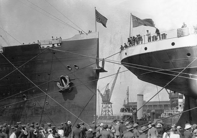 Août 1923 : une course entre l'Olympic et l'USS Leviathan ! 7685858768
