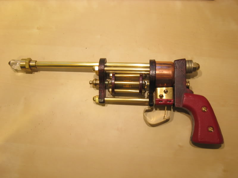 In his long absence, Kogwheal built a revolver-inspired raygun. IMG_4371