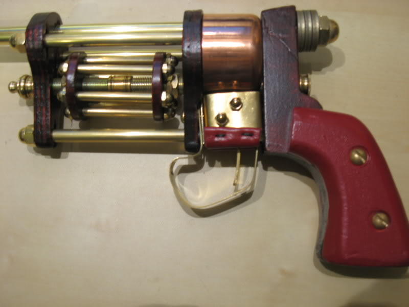 In his long absence, Kogwheal built a revolver-inspired raygun. IMG_4372