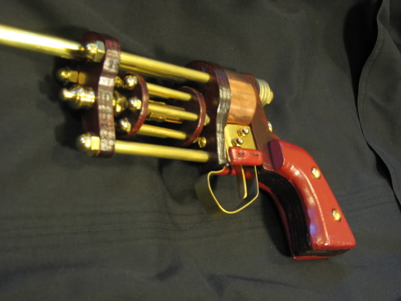In his long absence, Kogwheal built a revolver-inspired raygun. IMG_4386
